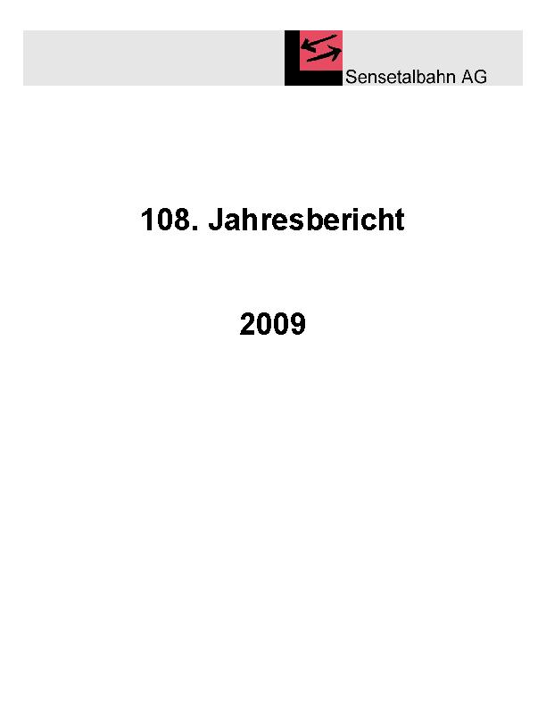 STB Jahresbericht 2009