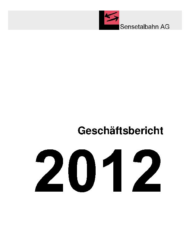STB Jahresbericht 2012